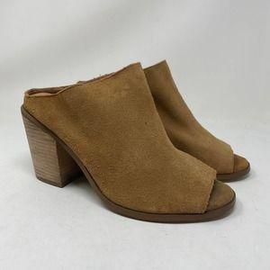 Torrid Size 10 Brown Mules Shoes Peep Toe
